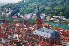 Free Panorama With Heiliggeistkirche Church, Heidelberg Royalty Free Stock Photography - 61468207