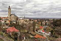 Free Panorama With Saint-James Church Of Kutna-Hora Valley Royalty Free Stock Photos - 142131648