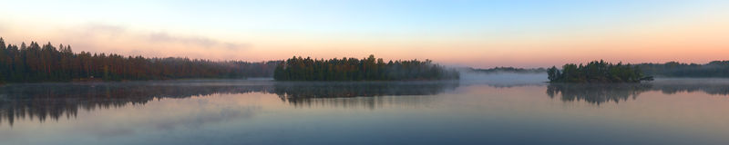 Panorama of wood lake Stock Image