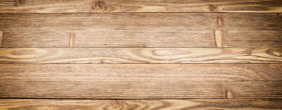 Panorama wooden background. Light wood texture close-up. Plank t Stock Photography