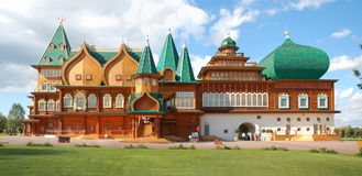 Panorama of of the Wooden palace in Kolomenskoye, Moscow Stock Images
