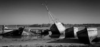 Panorama  of Wrecks Stock Photo