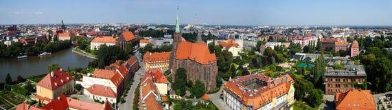 Panorama Wrocławska Zdjęcie Stock