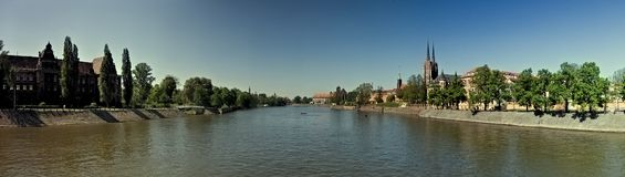 Panorama of Wroclaw Stock Image