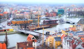 Panorama Wroclaw images libres de droits
