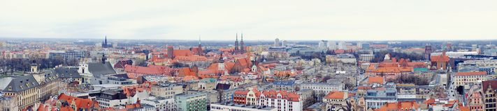 Panorama Wroclaw image libre de droits