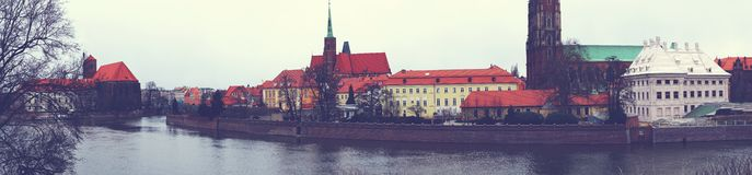Panorama Wroclaw image stock