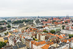 Panorama Wroclaw on a cloudy day. Stock Photography