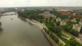 Panorama Wroclaw de la ciudad metrajes