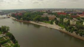 Panorama Wroclaw della città stock footage