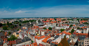Panorama of Wroclaw, Poland stock photos