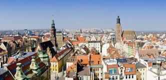 Panorama Wroclaw, Polen Lizenzfreies Stockfoto
