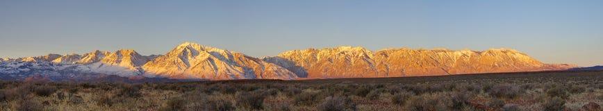 panorama wschodni sierra wschód słońca Obraz Royalty Free