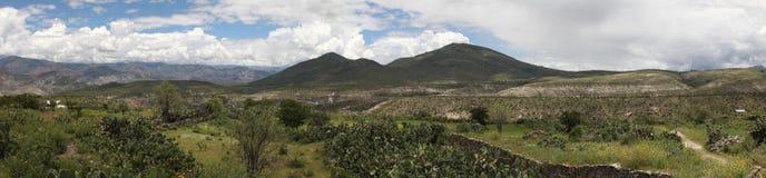 Panorama wieś krajobraz w Peru Zdjęcia Stock