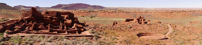 Panorama, Wupatki pueblo ruins Stock Photography