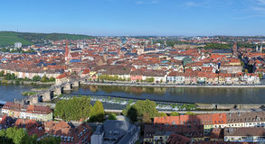 Panorama of Wurzburg, Germany Royalty Free Stock Image