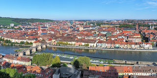 Panorama of Wurzburg, Germany Stock Image