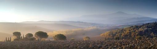 Panorama wzgórza w Tuscany zdjęcie royalty free