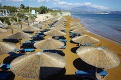 Panorama of xsi beach, Kefalonia, Ionian Islands, Greece Royalty Free Stock Images