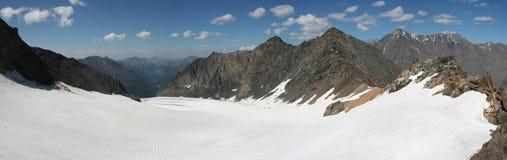 Panorama XXXL delle montagne delle alpi Fotografia Stock Libera da Diritti