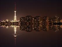 Panorama y agua de Berlín foto de archivo libre de regalías
