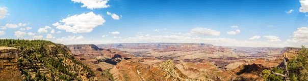 Panorama: Yaki Point - Grand Canyon, South Rim, Arizona, AZ Royalty Free Stock Image