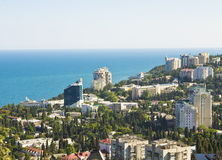 Panorama of Yalta, Crimea Stock Image
