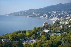 Panorama of Yalta, Ukraine Stock Photography