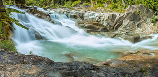 Panorama Yangbay waterfall, Khanh Hoa, Vietnam in spring morning Stock Images