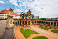 Panorama and yard of the art gallery in Dresden Stock Photography