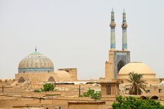 Panorama of Yazd, southern Iran stock photography