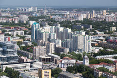 Panorama of Yekaterinburg. Aerial panorama of Yekaterinburg, Russia Royalty Free Stock Image