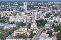 Panorama of Yekaterinburg. Aerial panorama of Yekaterinburg, Russia Stock Image