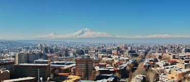 Panorama of Yerevan city Royalty Free Stock Photo