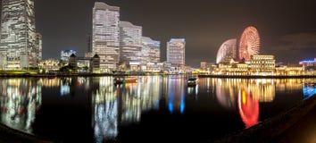 Panorama Yokohama Minato Mirai 21 seaside urban area in central Royalty Free Stock Photography