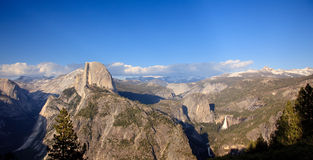 Panorama of Yosemite with Half Dome Stock Image