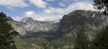 Panorama Yosemite Valley Stock Image