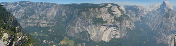 Panorama of Yosemite Valley Royalty Free Stock Image