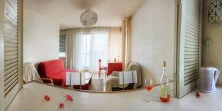 panorama żywy pokój obraz stock