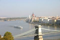 panorama z budapesztu Obrazy Royalty Free