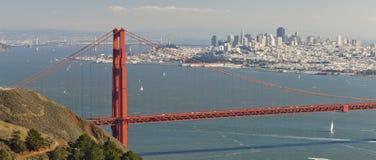 Złoci Wrota most i San Fransisco zatoka Fotografia Royalty Free