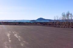 Panorama z rozmaitością krajobrazy w Iceland obrazy royalty free
