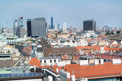 Panorama z Stephansdom w Wiedeń, Austria zdjęcie stock