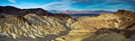 Panorama from Zabriskie Point, Royalty Free Stock Images