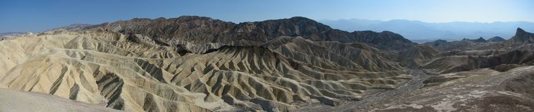 Panorama of Zabriskie point, Death Valley Royalty Free Stock Photos