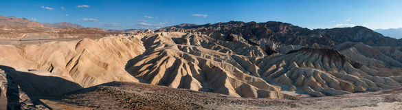 Panorama of Zabriskie Point in Death Valley Stock Images