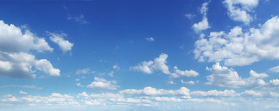 panorama zachmurzone niebo Obrazy Royalty Free