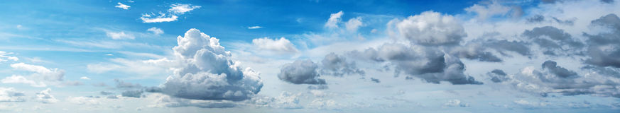 panorama zachmurzone niebo Fotografia Royalty Free