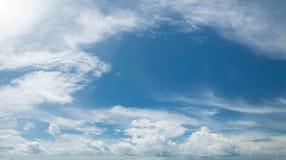 panorama zachmurzone niebo Zdjęcie Royalty Free