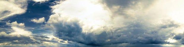 panorama zachmurzone niebo Obraz Royalty Free